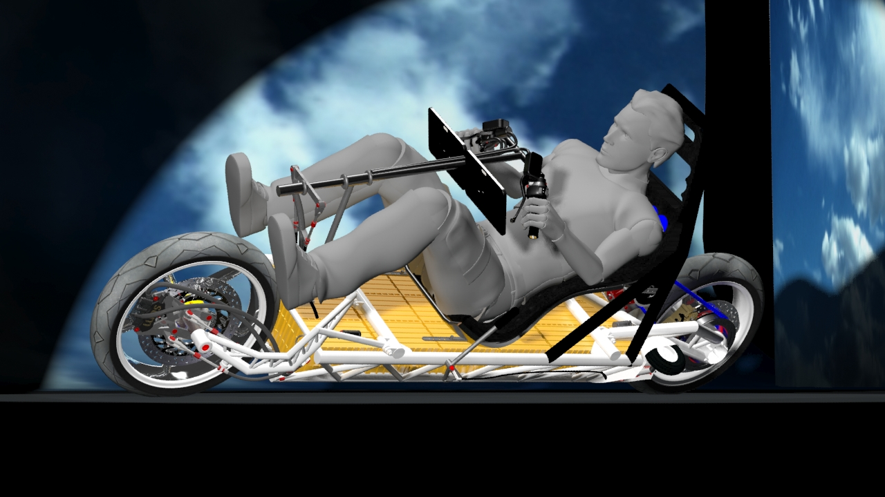 sem streamlined electric motorcycle heeled inside